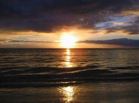 Sonnenuntergang am Strand von Belek