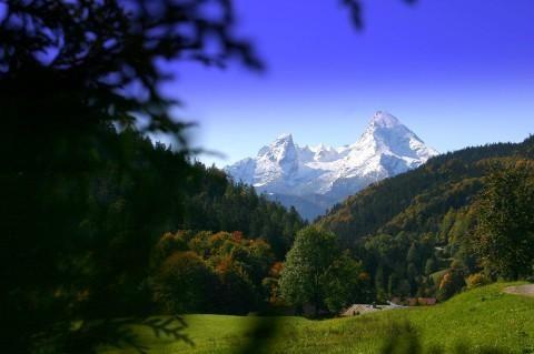 Blick auf den Watzmann im Nationalpark Berchtesgaden